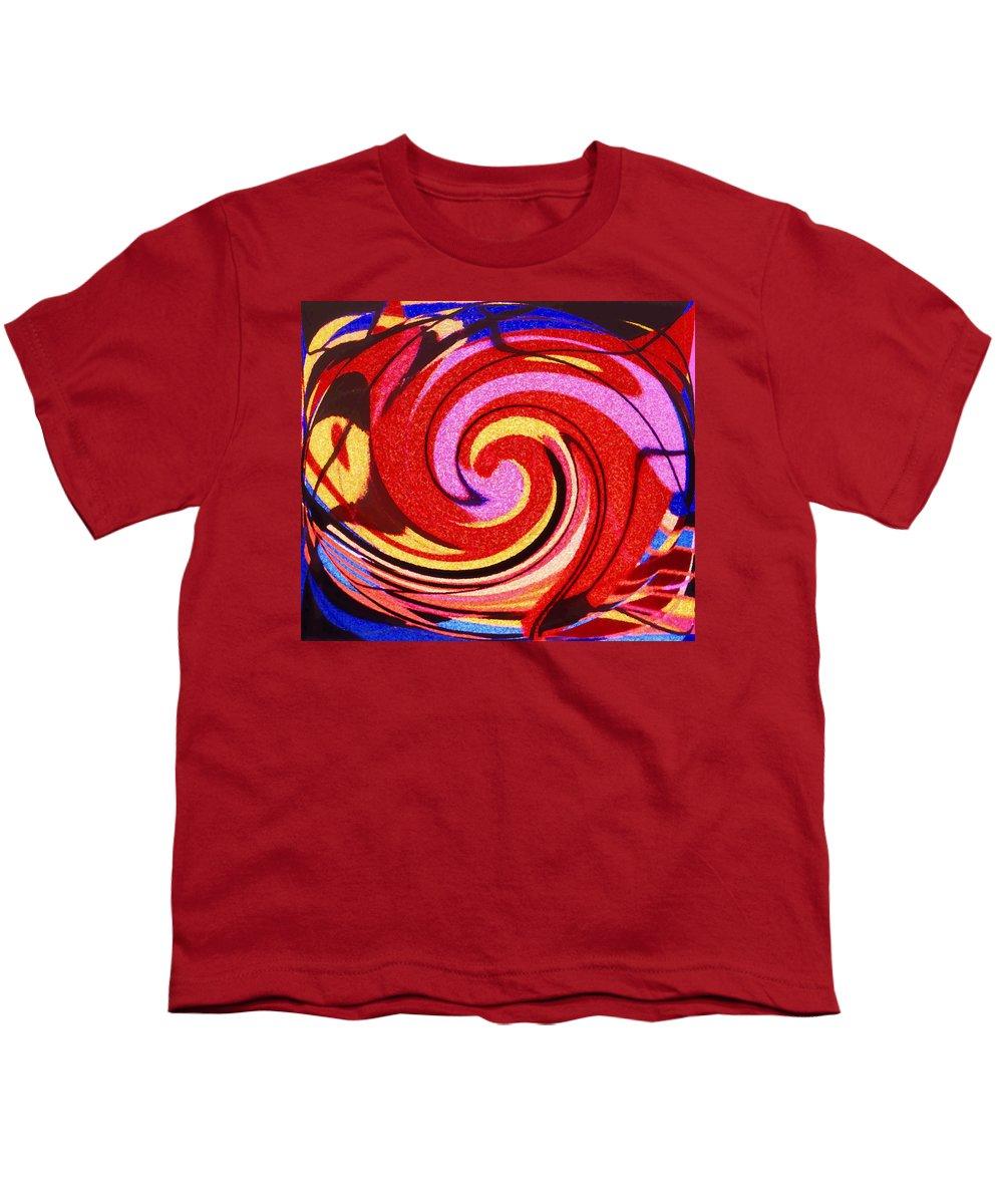Eagle Youth T-Shirt featuring the digital art Eagle And Bear by Ian MacDonald