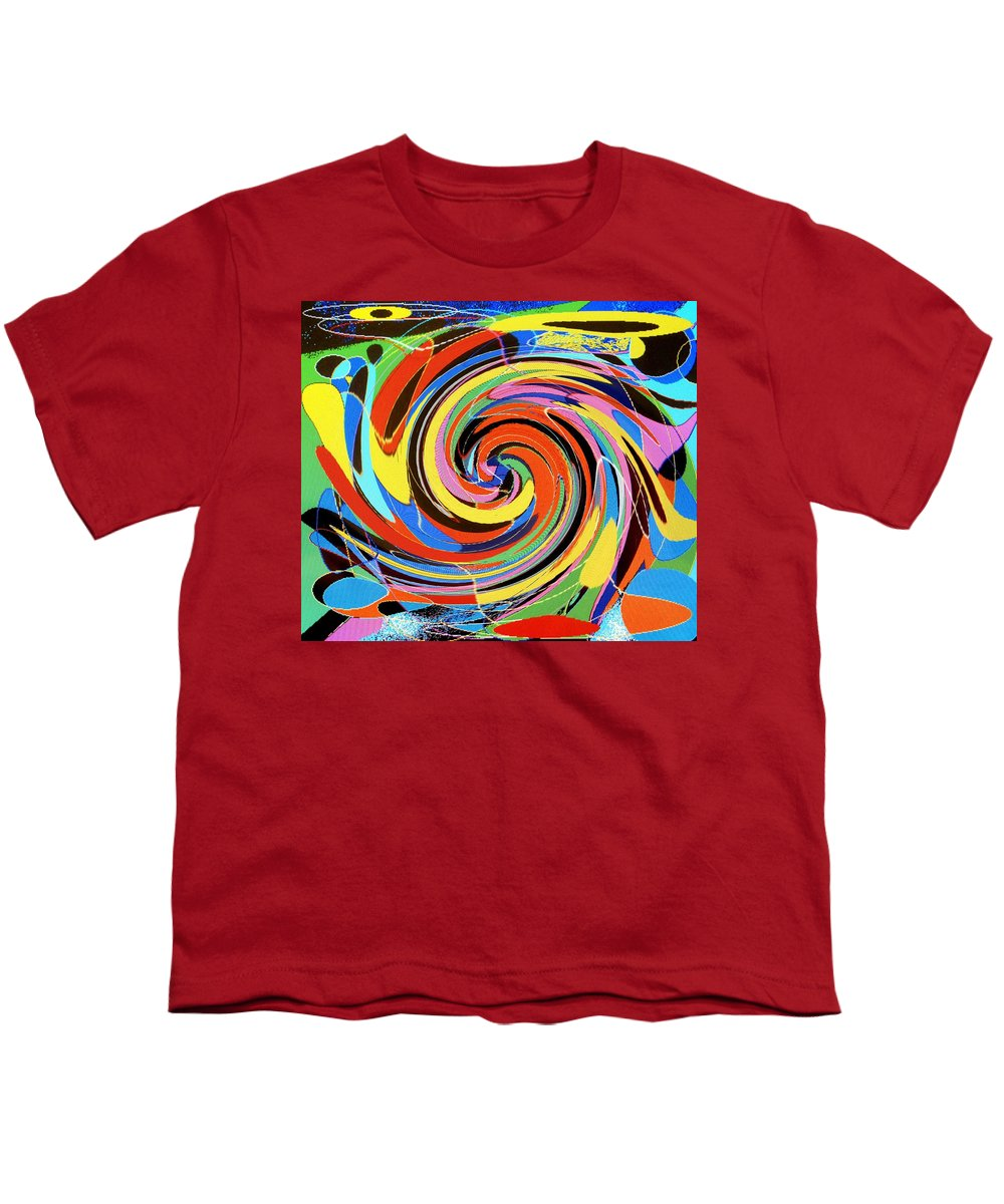 Youth T-Shirt featuring the digital art Escaping The Vortex by Ian MacDonald