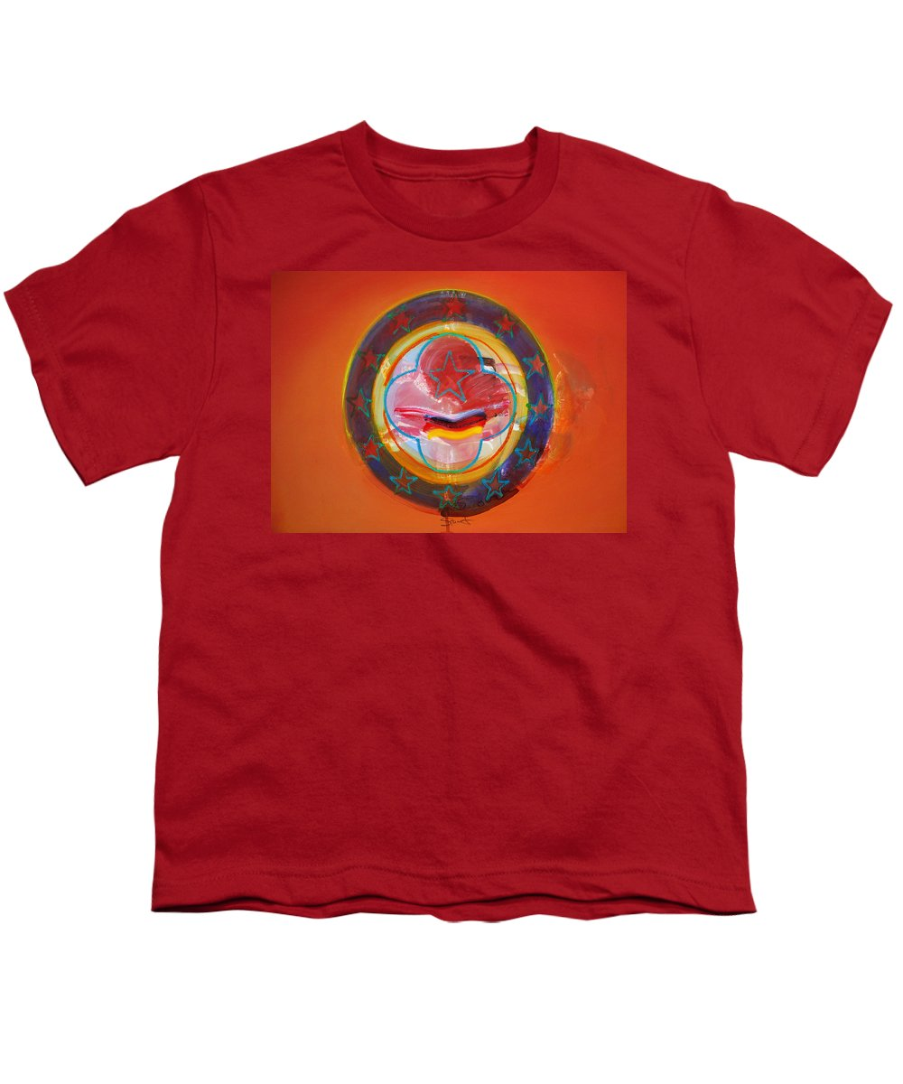 Symbol Youth T-Shirt featuring the painting Euro Smile by Charles Stuart