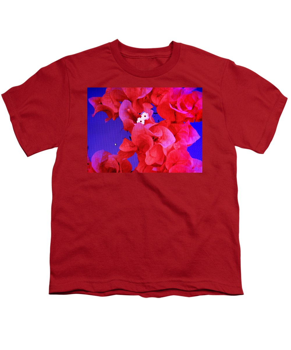 Red Youth T-Shirt featuring the photograph Flower Fantasy by Ian MacDonald