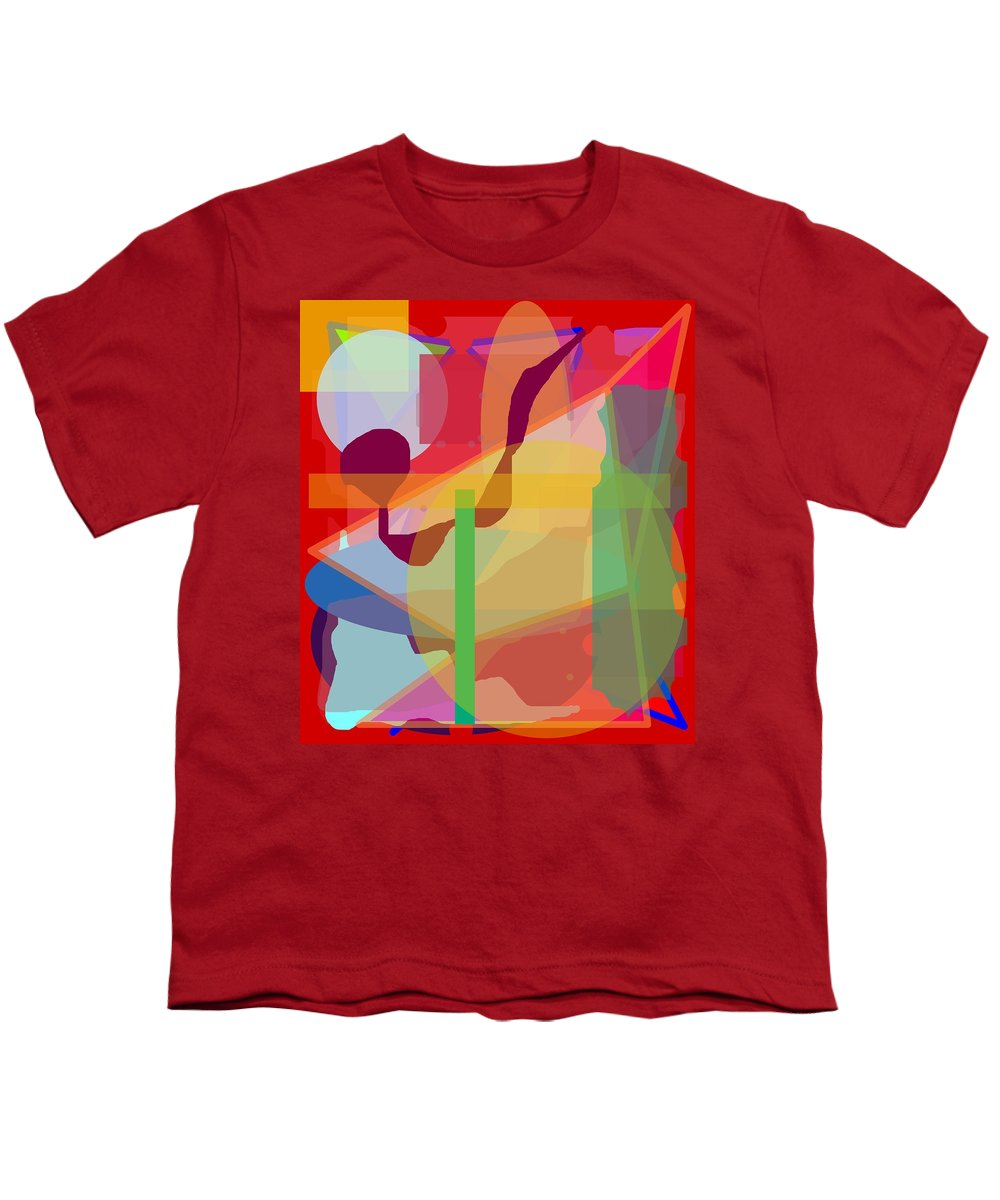 Abstract Youth T-Shirt featuring the painting Geo Frenzy by Pharris Art