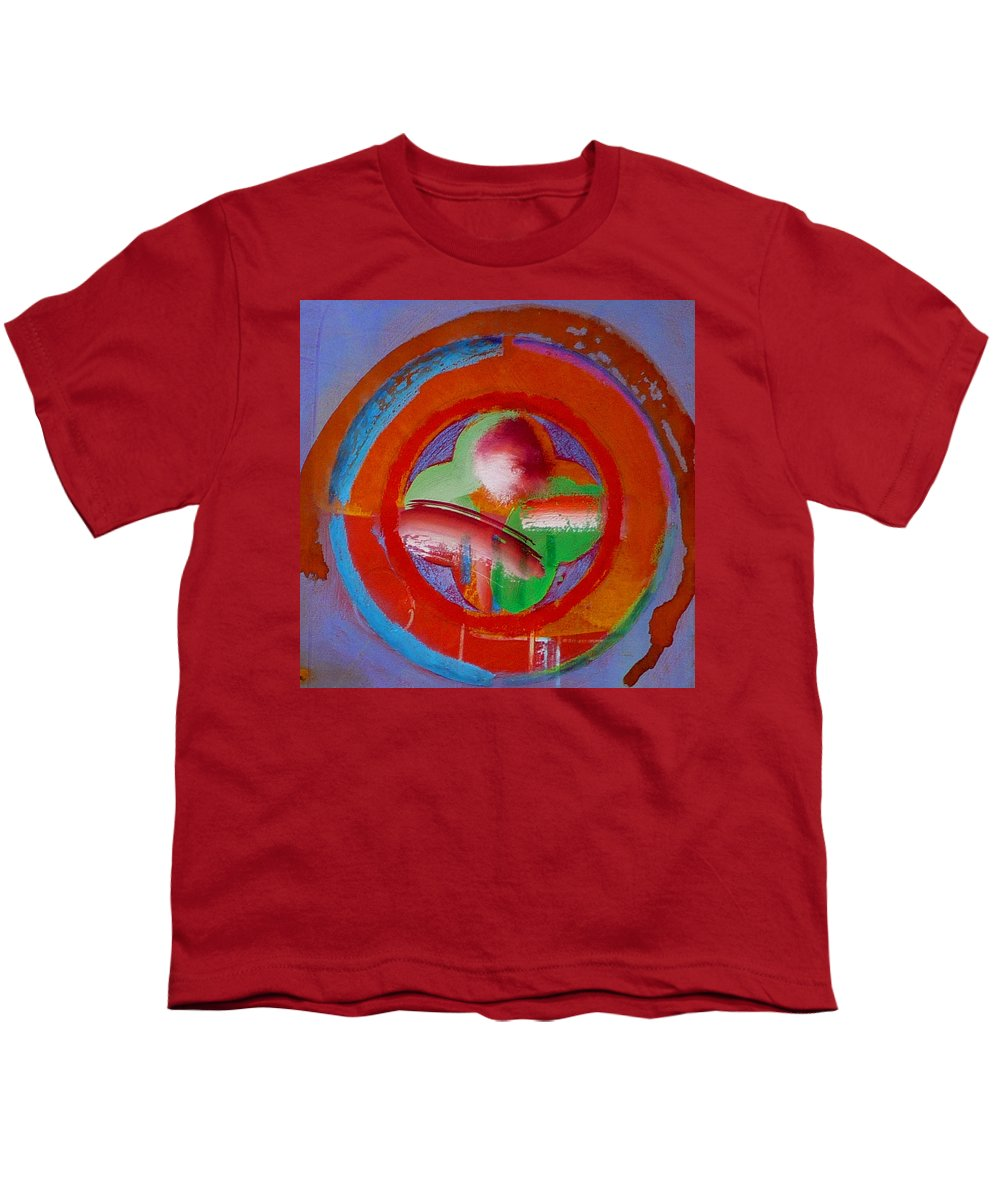 Love Youth T-Shirt featuring the painting Green Planet by Charles Stuart