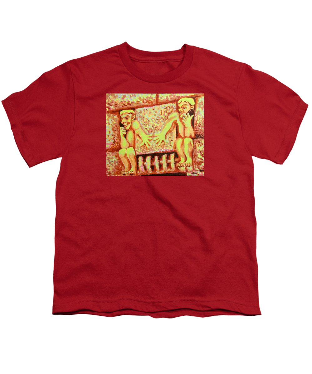Holding For Hilda Youth T-Shirt featuring the painting Holding For Hilda by Alan Hogan