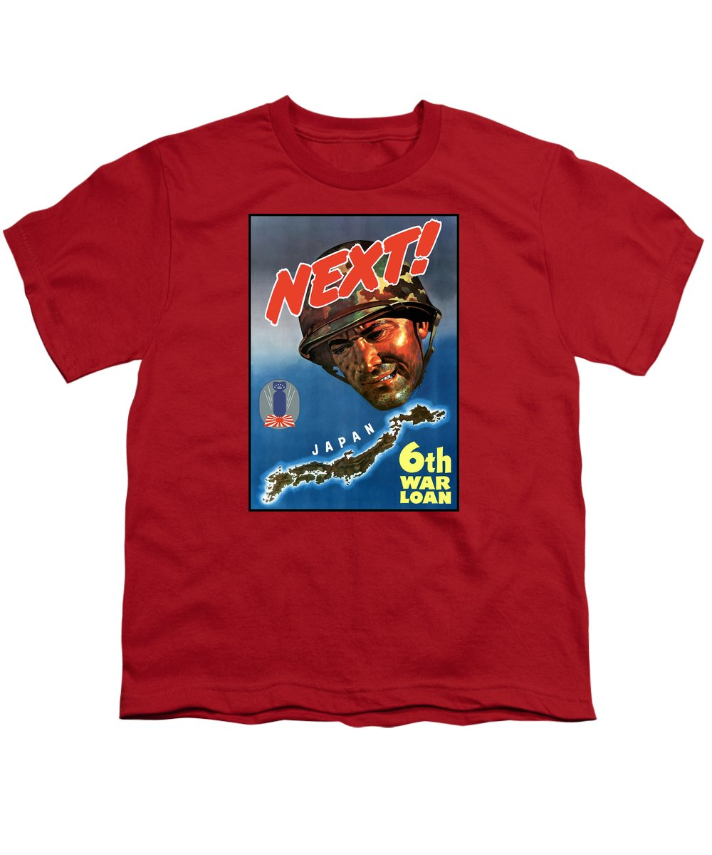 World War Ii Youth T-Shirt featuring the painting Japan Next World War 2 Poster by War Is Hell Store