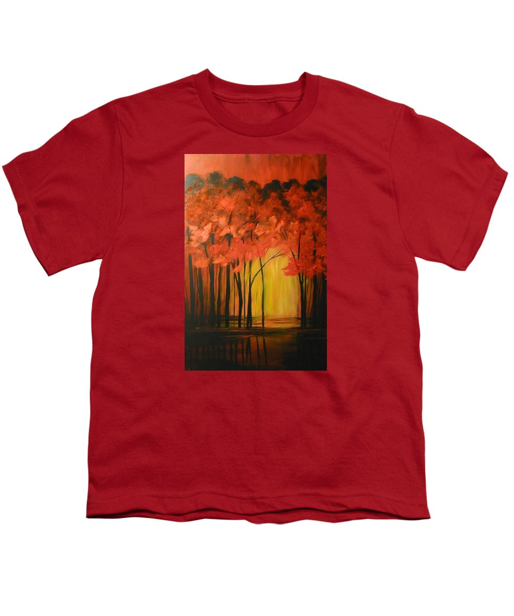Abstract Youth T-Shirt featuring the painting Japanese Forest by Sabina Surya Naya