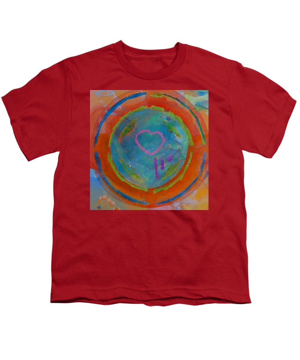 Logo Youth T-Shirt featuring the painting Love The Sea by Charles Stuart