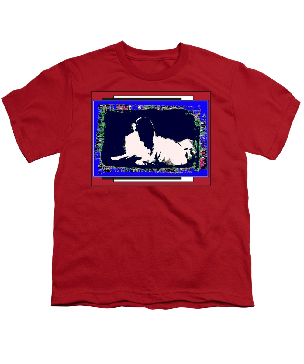 Mod Dog Youth T-Shirt featuring the digital art Mod Dog by Kathleen Sepulveda