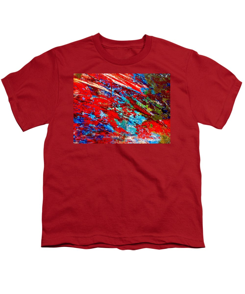 Abstract Youth T-Shirt featuring the painting Nature Harmony by Natalie Holland