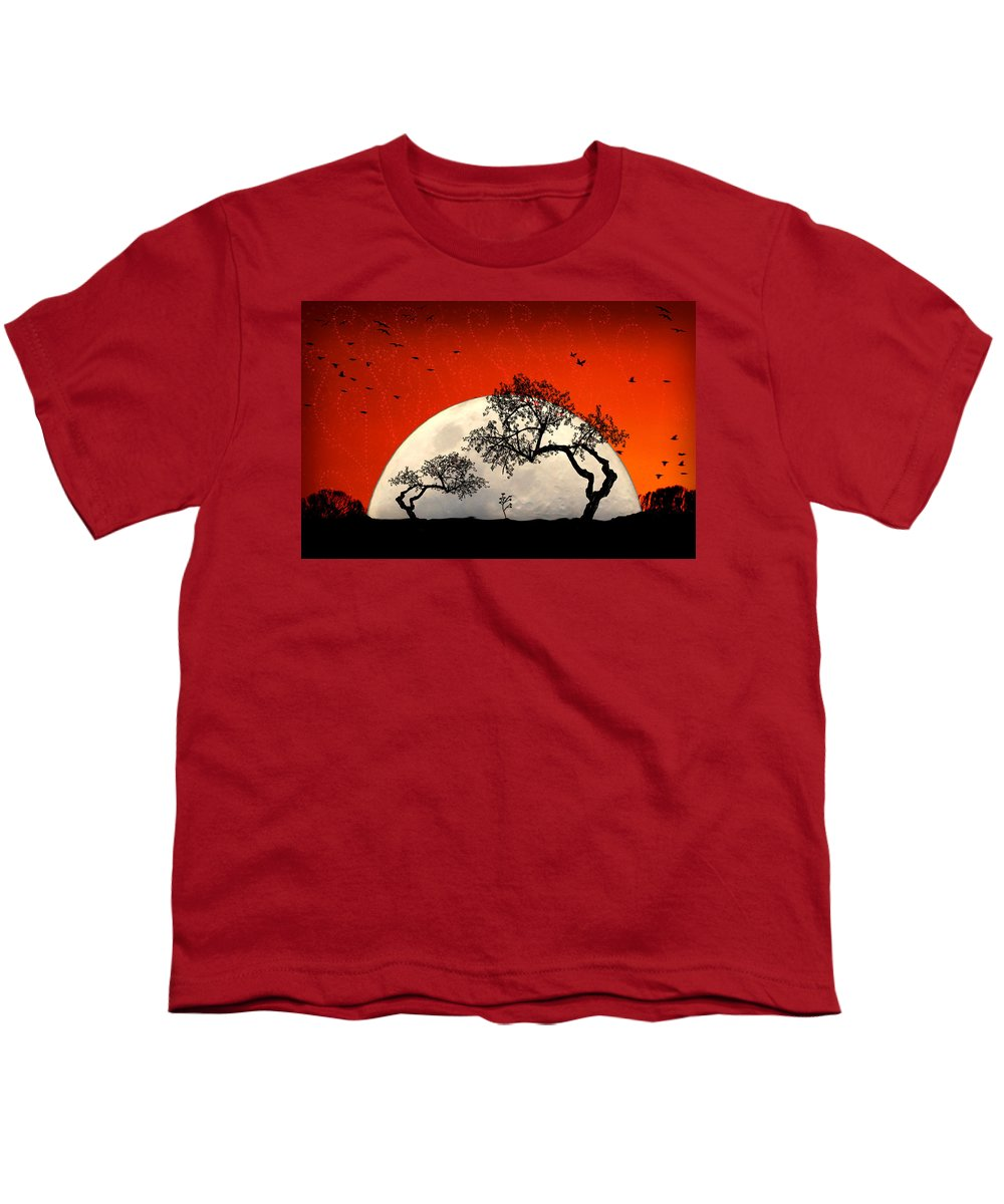 Moon Youth T-Shirt featuring the digital art New Growth New Hope by Holly Kempe