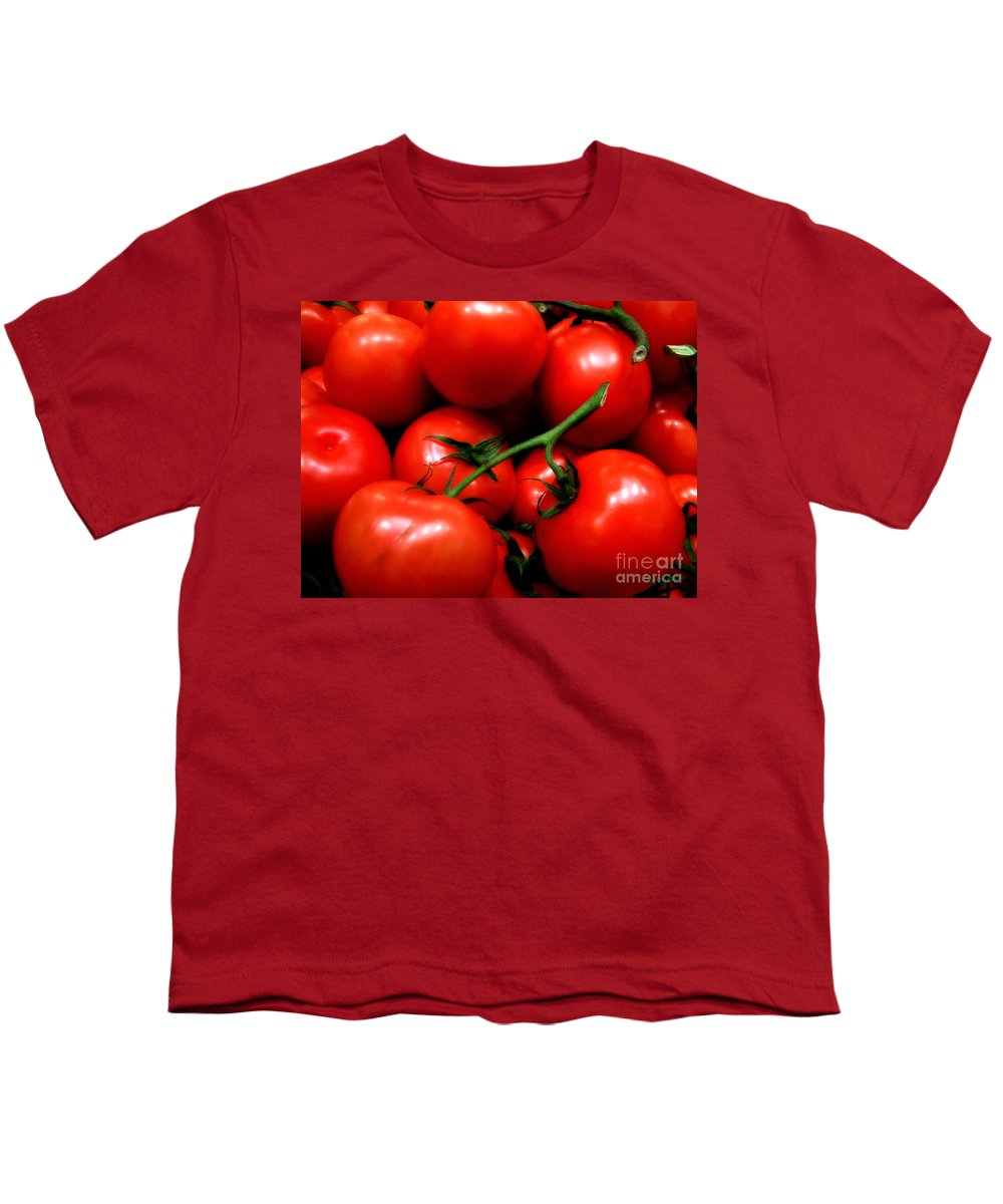 Food Youth T-Shirt featuring the photograph Nice Tomatoes Baby by RC DeWinter