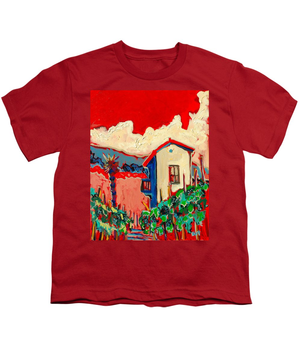 Tuscany Youth T-Shirt featuring the painting Notare by Kurt Hausmann