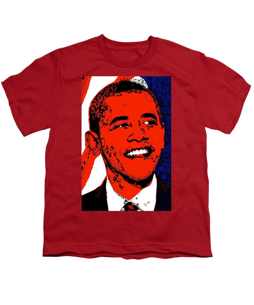 African Youth T-Shirt featuring the digital art Obama Hope by Rabi Khan