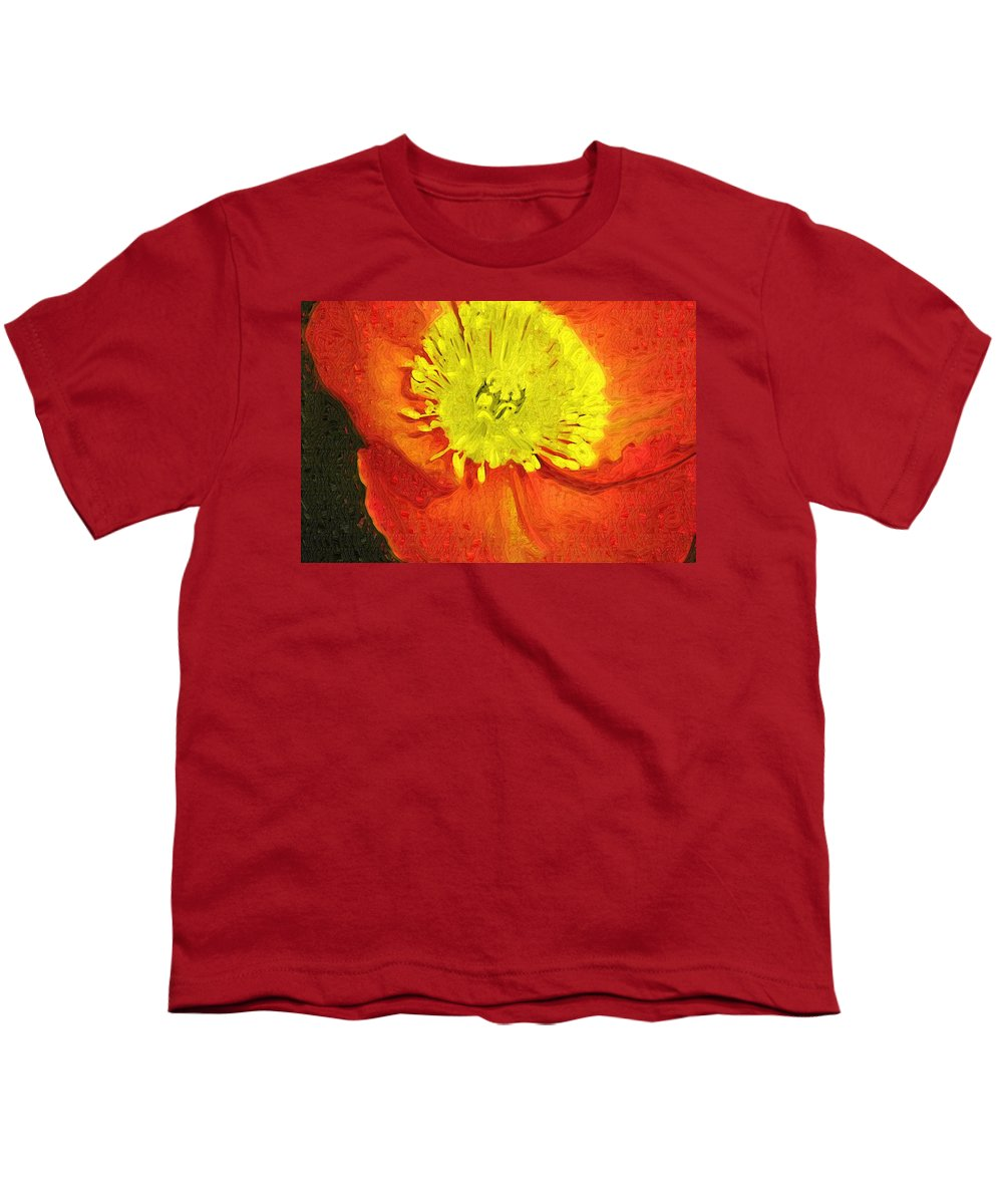Poppy Youth T-Shirt featuring the photograph Orange Poppy by Donna Bentley