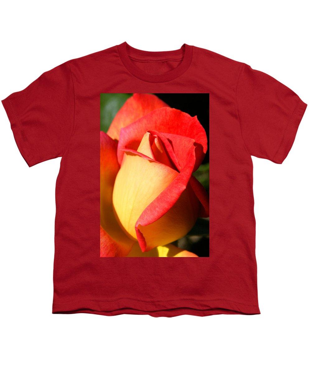 Orange Rosebud Youth T-Shirt featuring the photograph Orange Rosebud by Ralph A Ledergerber-Photography