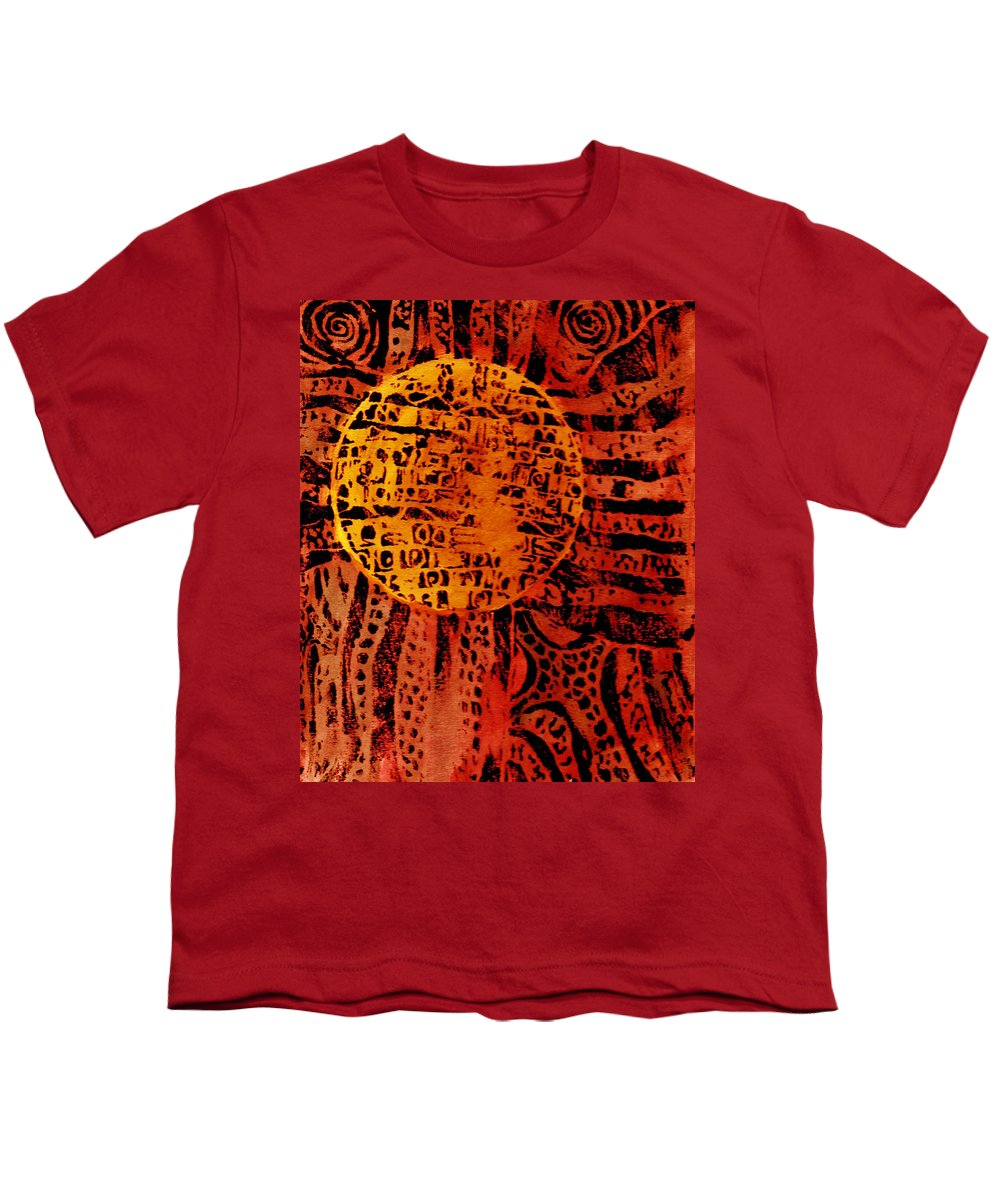 Abstract Youth T-Shirt featuring the painting Patterns In The Sun by Wayne Potrafka
