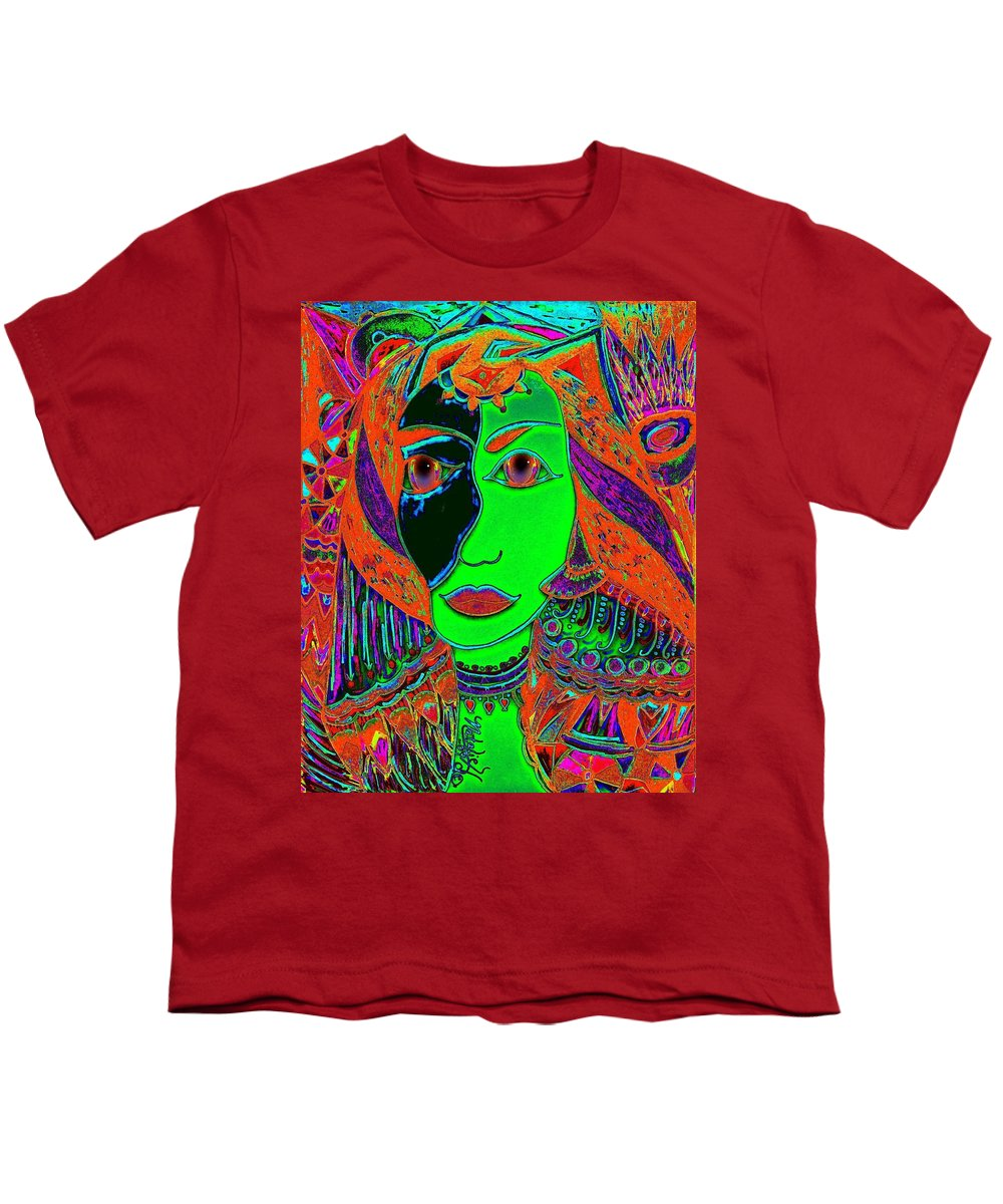 Queen Of The Nile Youth T-Shirt featuring the painting Queen Of The Nile by Natalie Holland