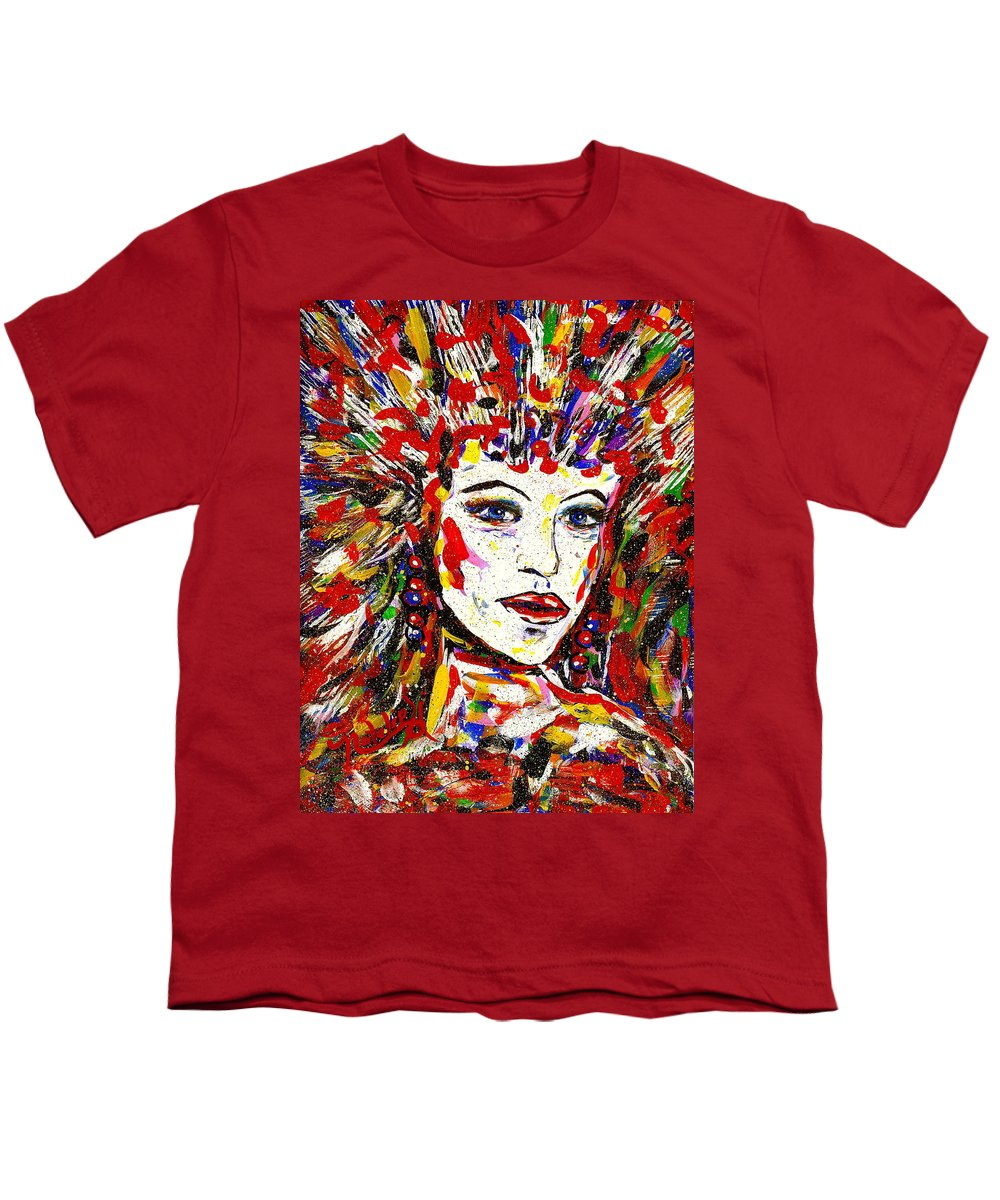 Abstract Art Youth T-Shirt featuring the painting Rainbow by Natalie Holland