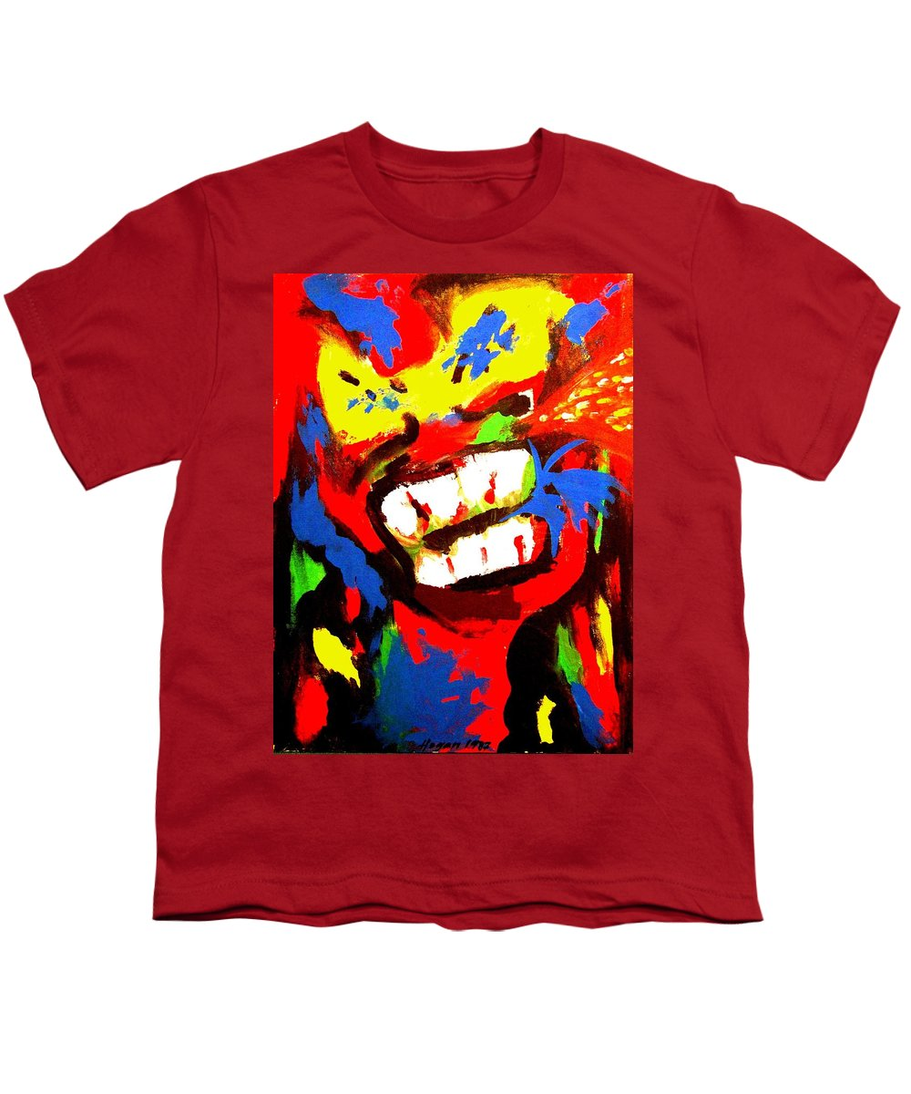 Teenager Youth T-Shirt featuring the painting Rebel Rebel by Alan Hogan