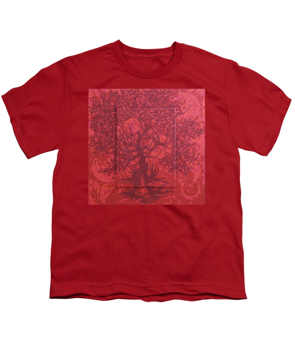 Red Youth T-Shirt featuring the painting Red Planet by Judy Henninger