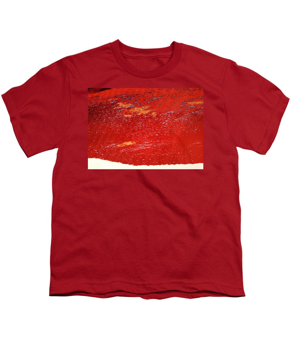 Red Youth T-Shirt featuring the photograph Red Surf On The Beach by Ian MacDonald