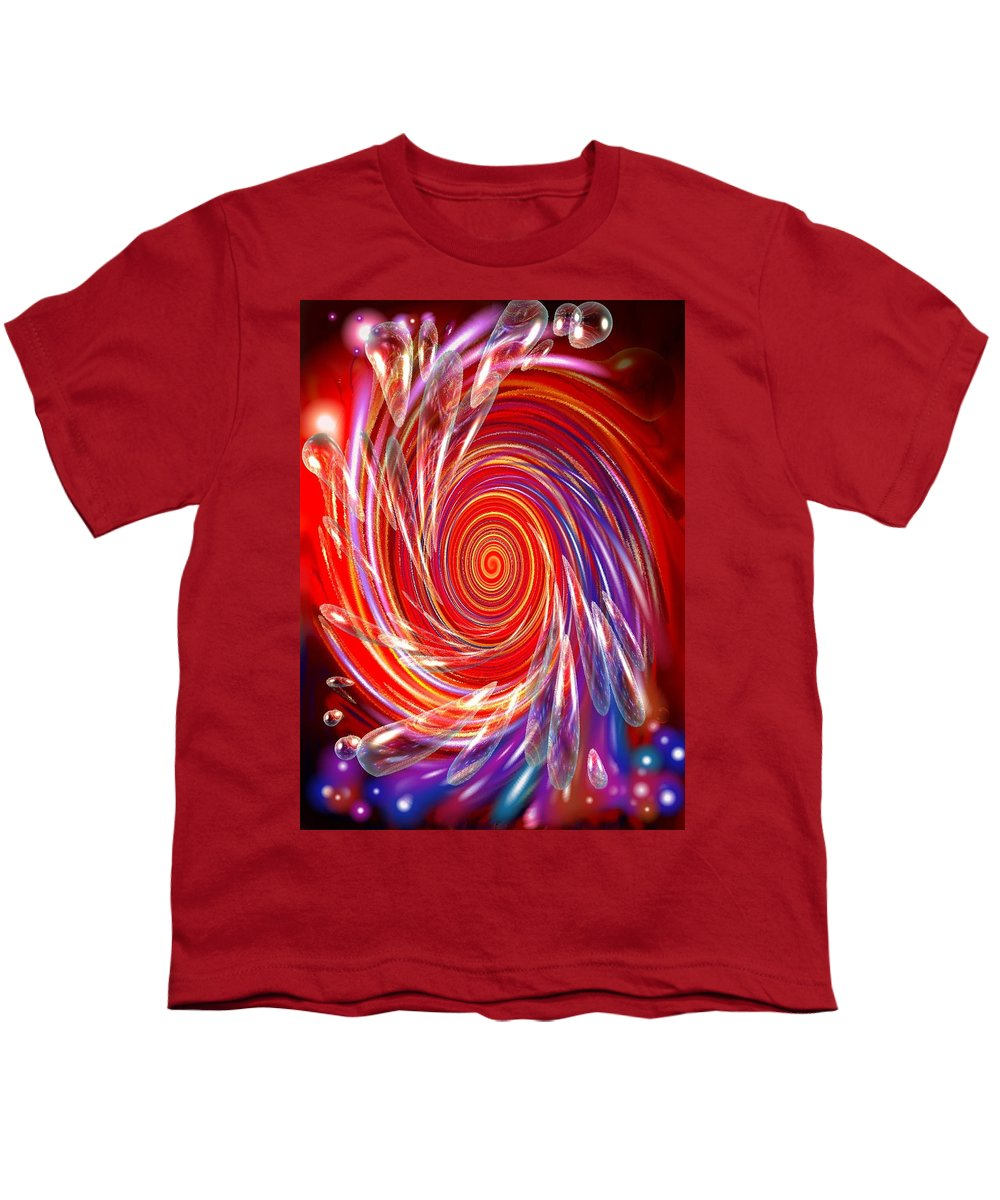 Red Youth T-Shirt featuring the digital art Red Twirl by Natalie Holland