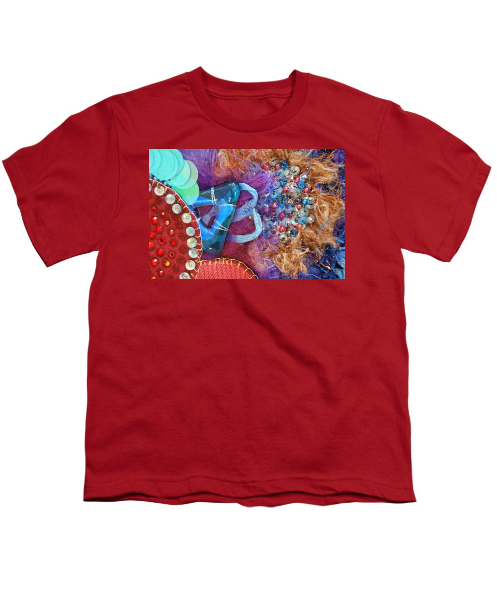 Youth T-Shirt featuring the mixed media Ruby Slippers 8 by Judy Henninger