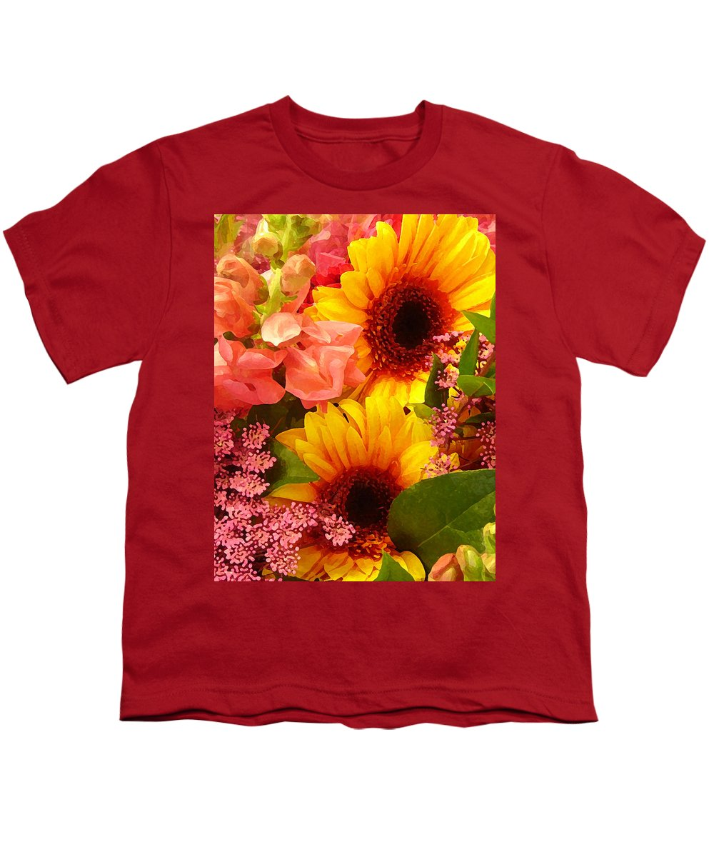 Roses Youth T-Shirt featuring the photograph Spring Bouquet 1 by Amy Vangsgard