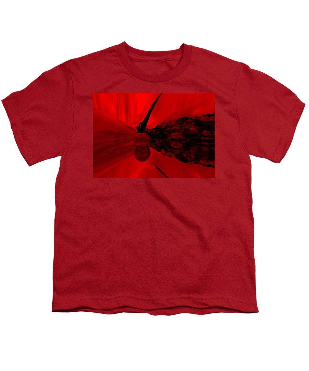 Abstract Youth T-Shirt featuring the digital art Untitled by David Lane