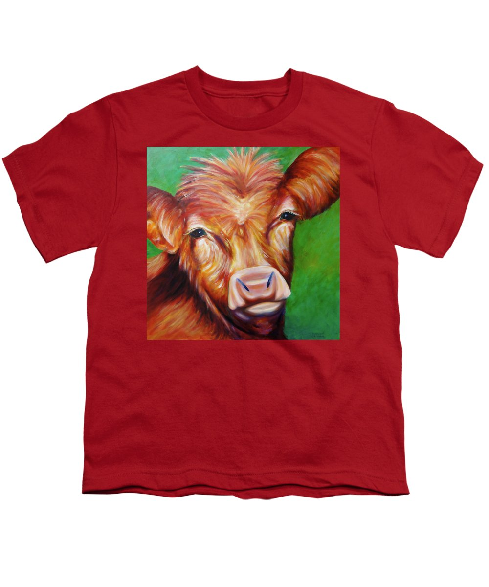 Bull Youth T-Shirt featuring the painting Van by Shannon Grissom