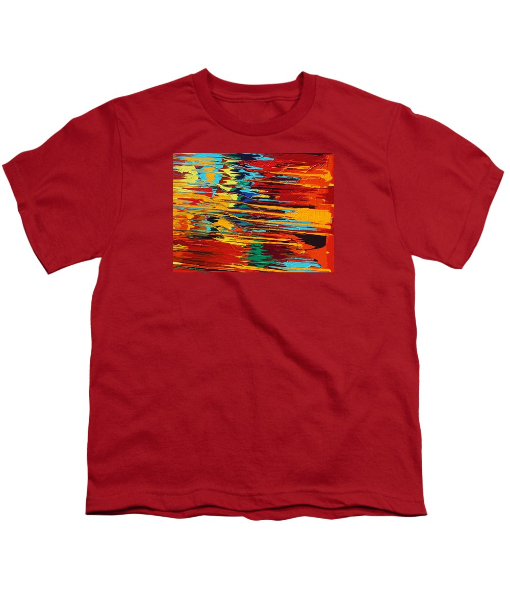 Fusionart Youth T-Shirt featuring the painting Zap by Ralph White