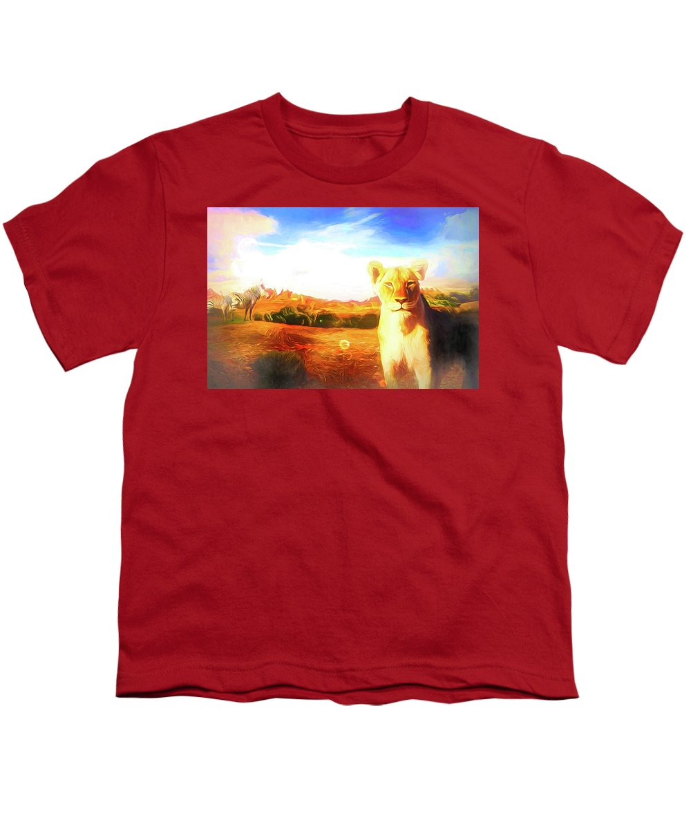 Afrika Youth T-Shirt featuring the digital art Be Careful by Jasmina Seidl