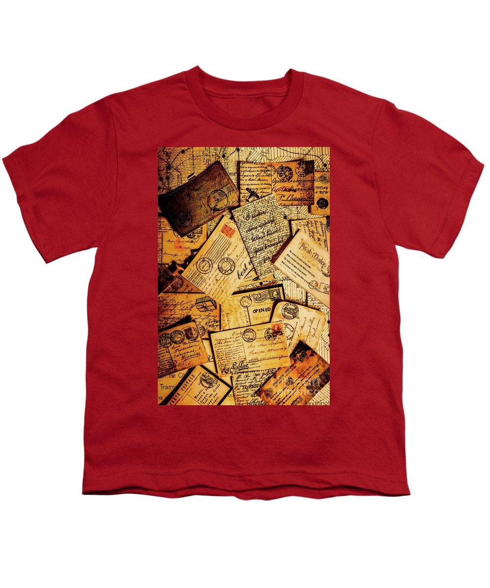 Antique Youth T-Shirt featuring the photograph Sentimental Writings by Jorgo Photography - Wall Art Gallery