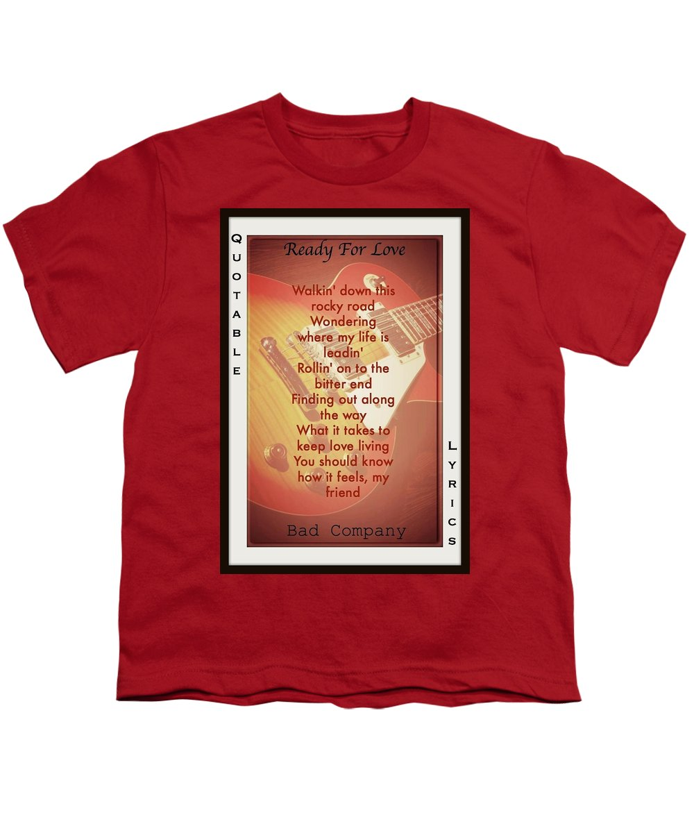 Bad Company Youth T-Shirt featuring the photograph Ready For Love by David Norman