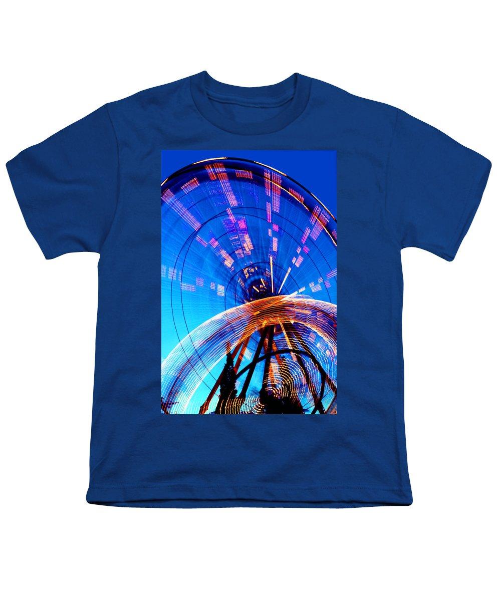 Amusement Park Youth T-Shirt featuring the photograph Amusement Park Rides 1 by Steve Ohlsen