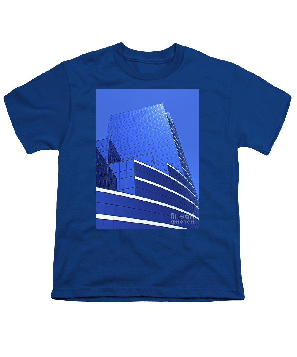Architecture Youth T-Shirt featuring the photograph Architectural Blues by Ann Horn