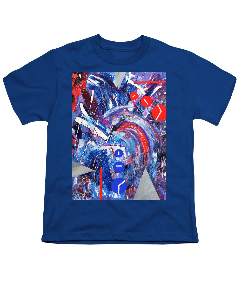 Abstract Youth T-Shirt featuring the painting Dream Run 2001 by RalphGM