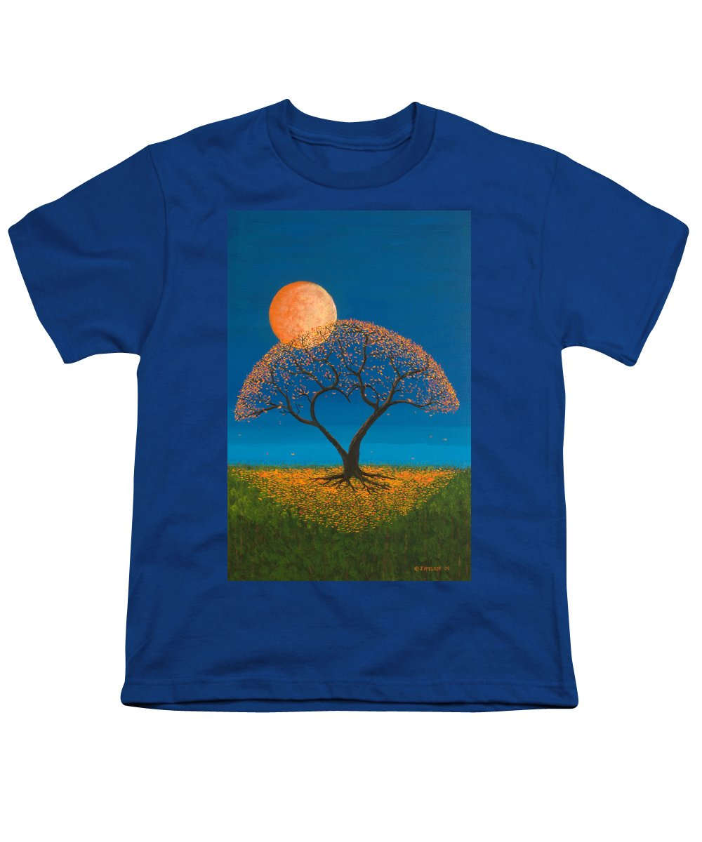 Love Youth T-Shirt featuring the painting Falling For You by Jerry McElroy