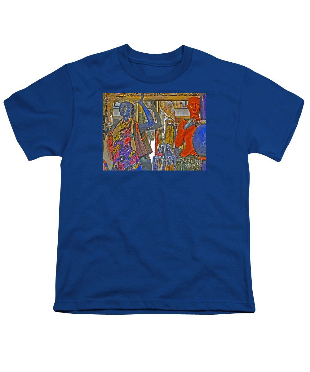 Fashion Youth T-Shirt featuring the photograph Funky Boutique by Ann Horn
