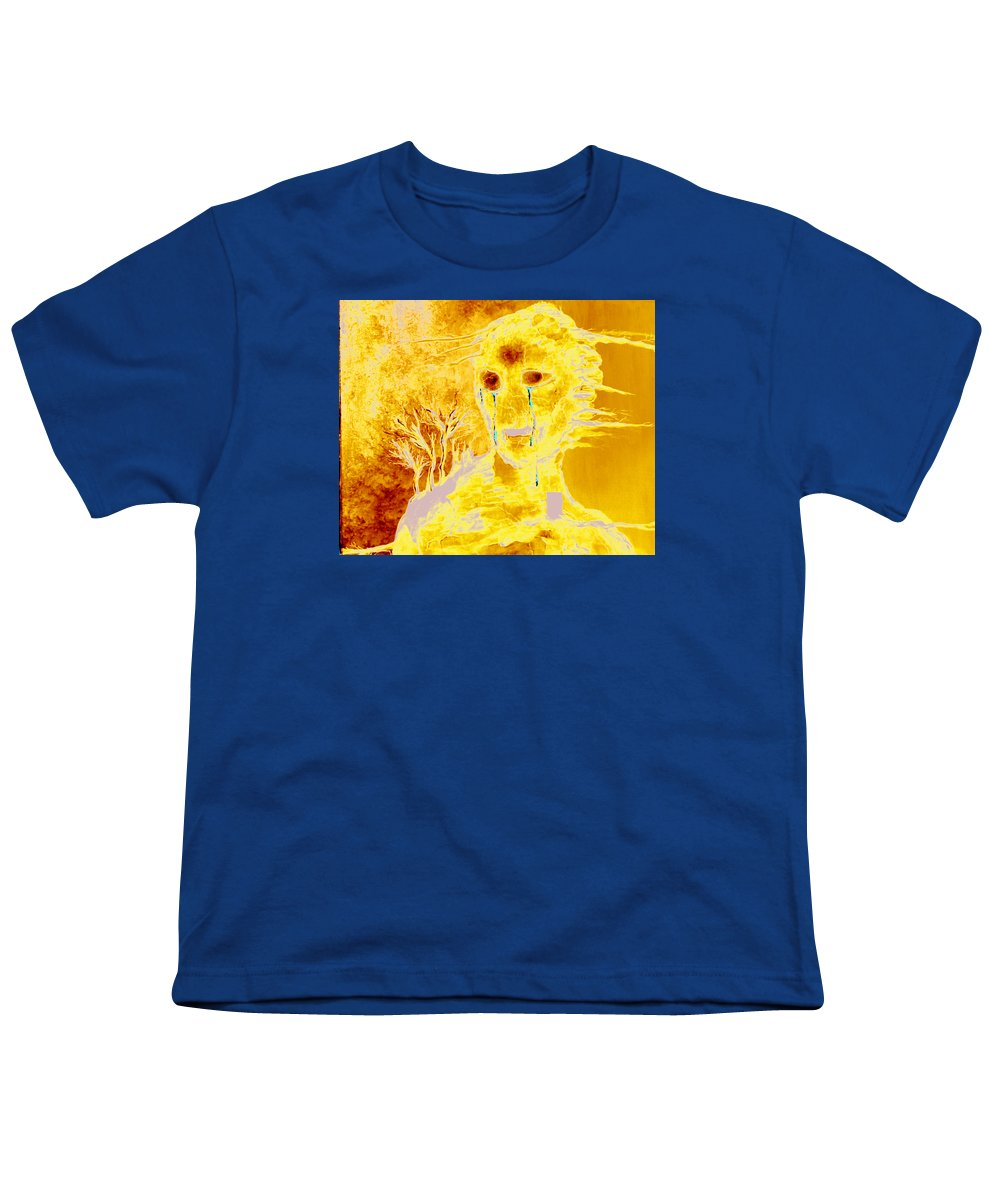Blue Youth T-Shirt featuring the painting Untitled by Veronica Jackson