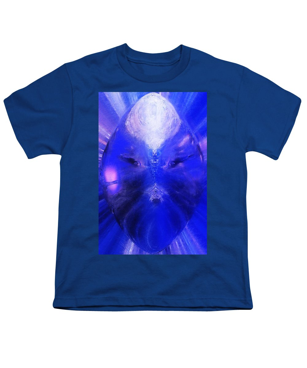 Digital Painting Youth T-Shirt featuring the digital art An Alien Visage by David Lane