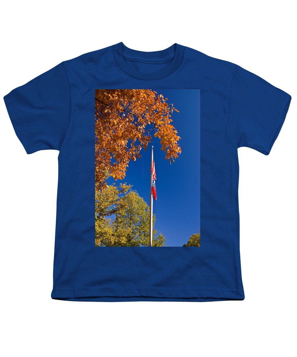 Flag Youth T-Shirt featuring the photograph Autumn Flag by Douglas Barnett