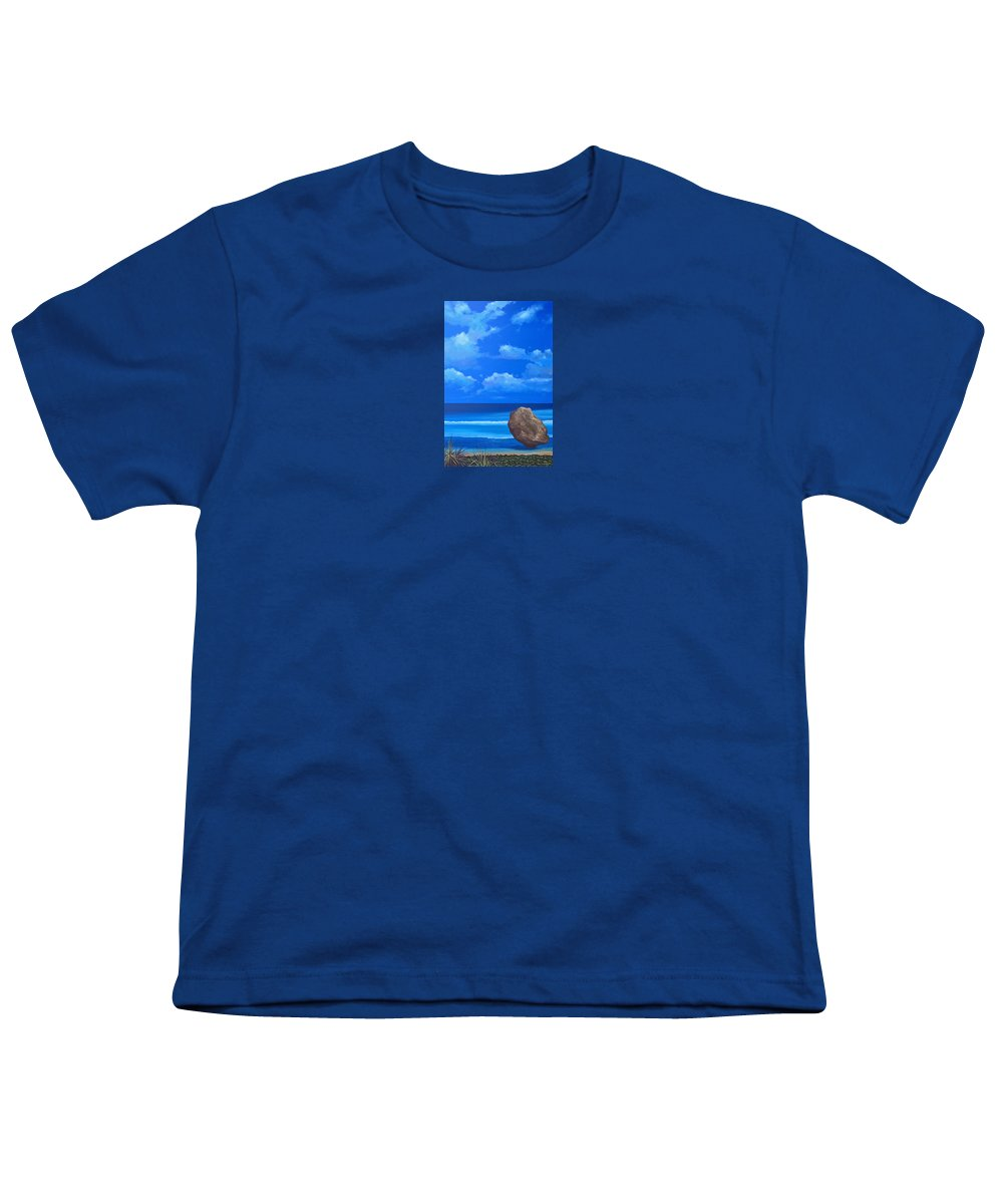 Barbados Youth T-Shirt featuring the painting Bathsheba by Hunter Jay