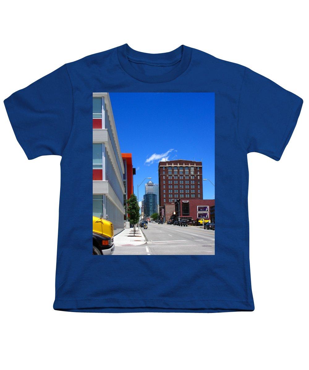 Kansas City Youth T-Shirt featuring the photograph City Street by Steve Karol