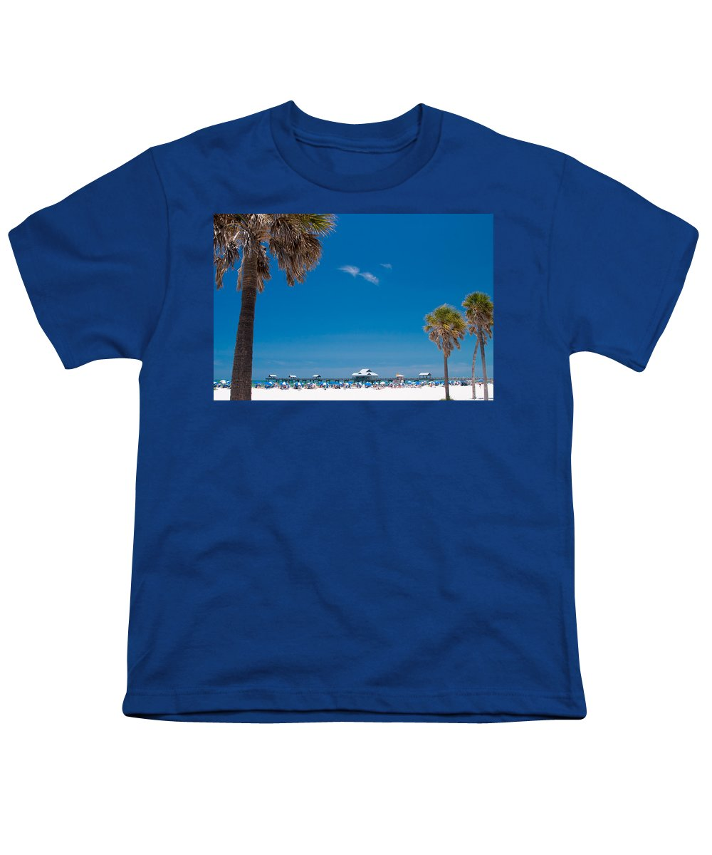 3scape Youth T-Shirt featuring the photograph Clearwater Beach by Adam Romanowicz