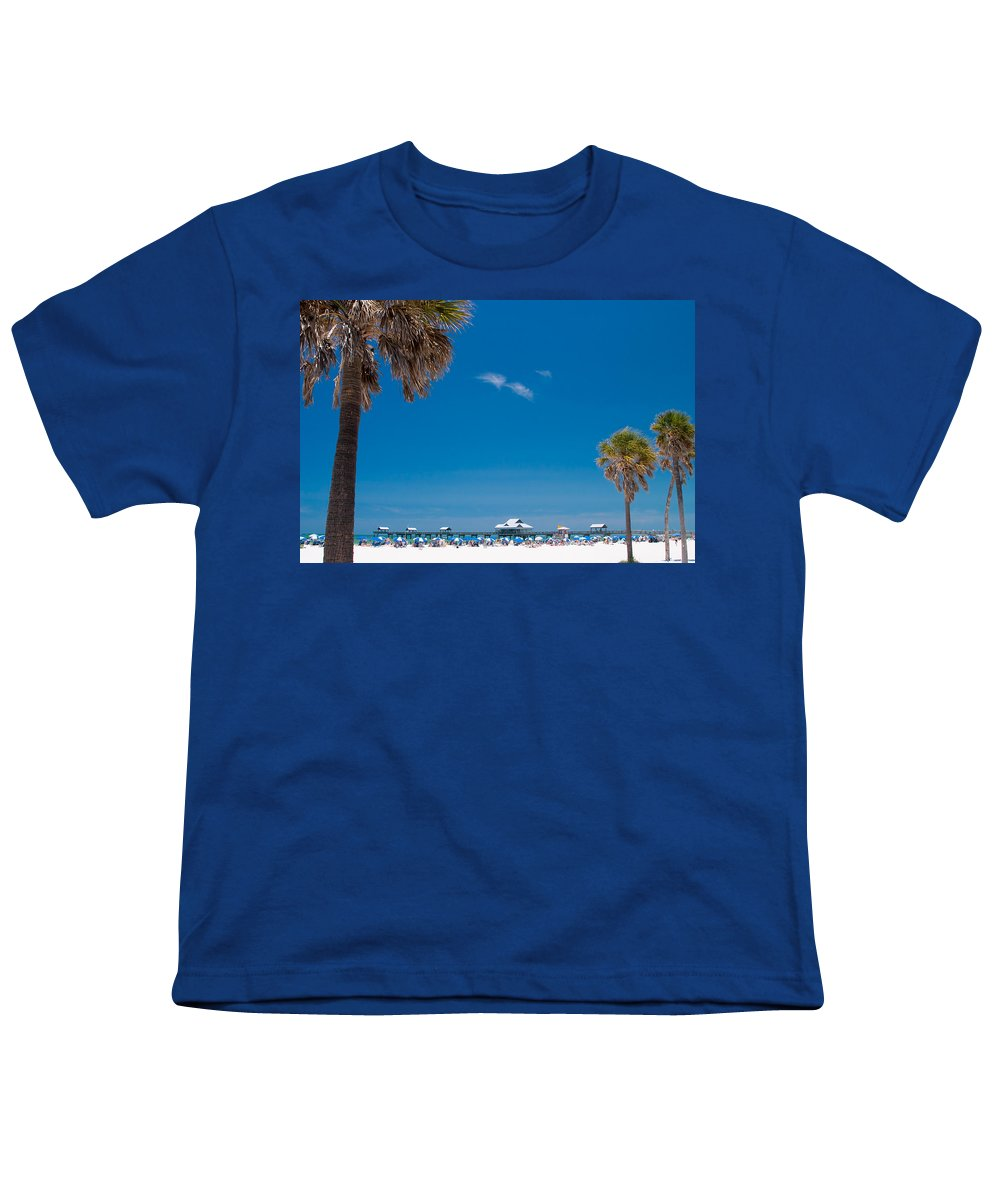 3scape Photos Youth T-Shirt featuring the photograph Clearwater Beach by Adam Romanowicz