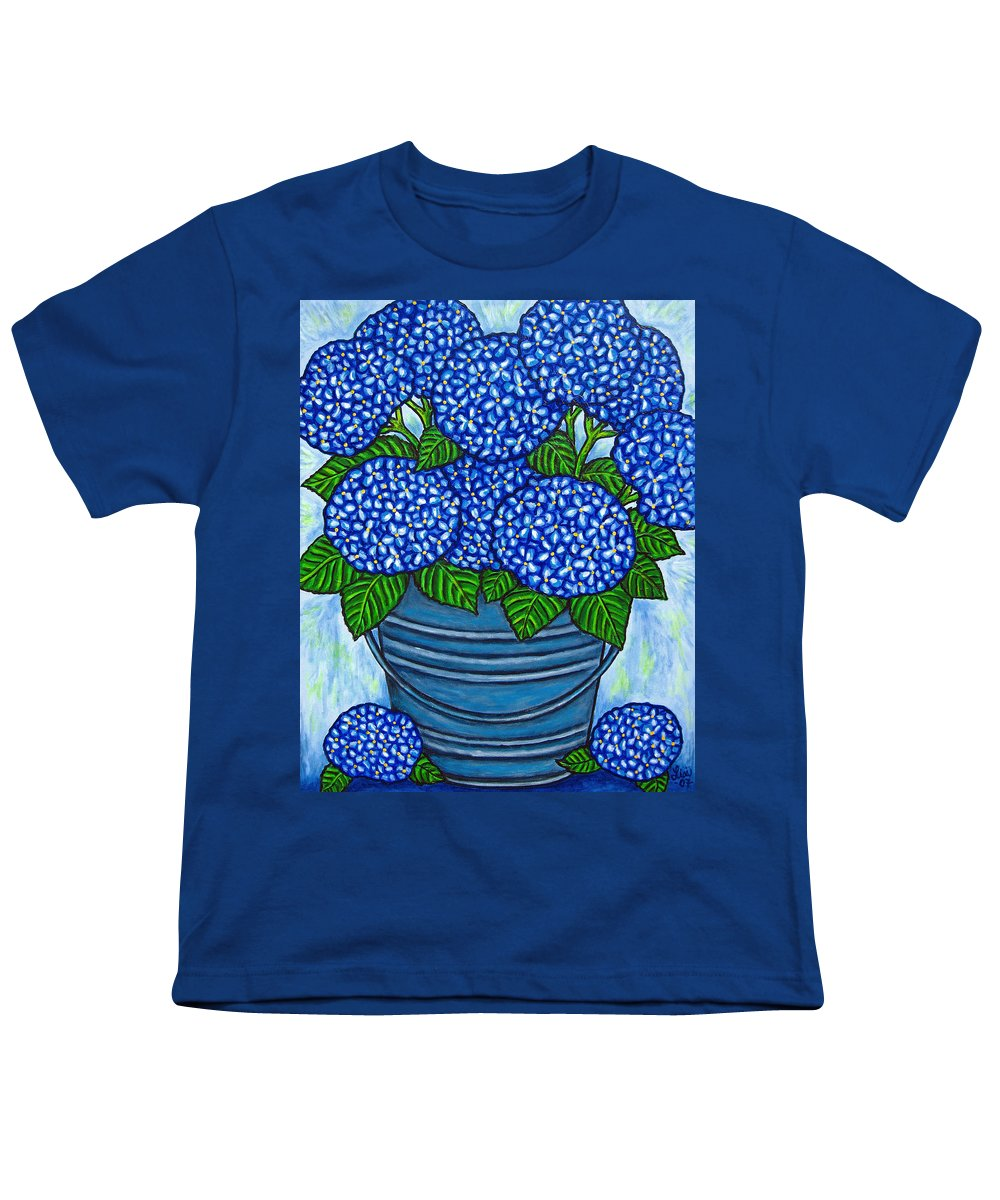 Blue Youth T-Shirt featuring the painting Country Blues by Lisa Lorenz