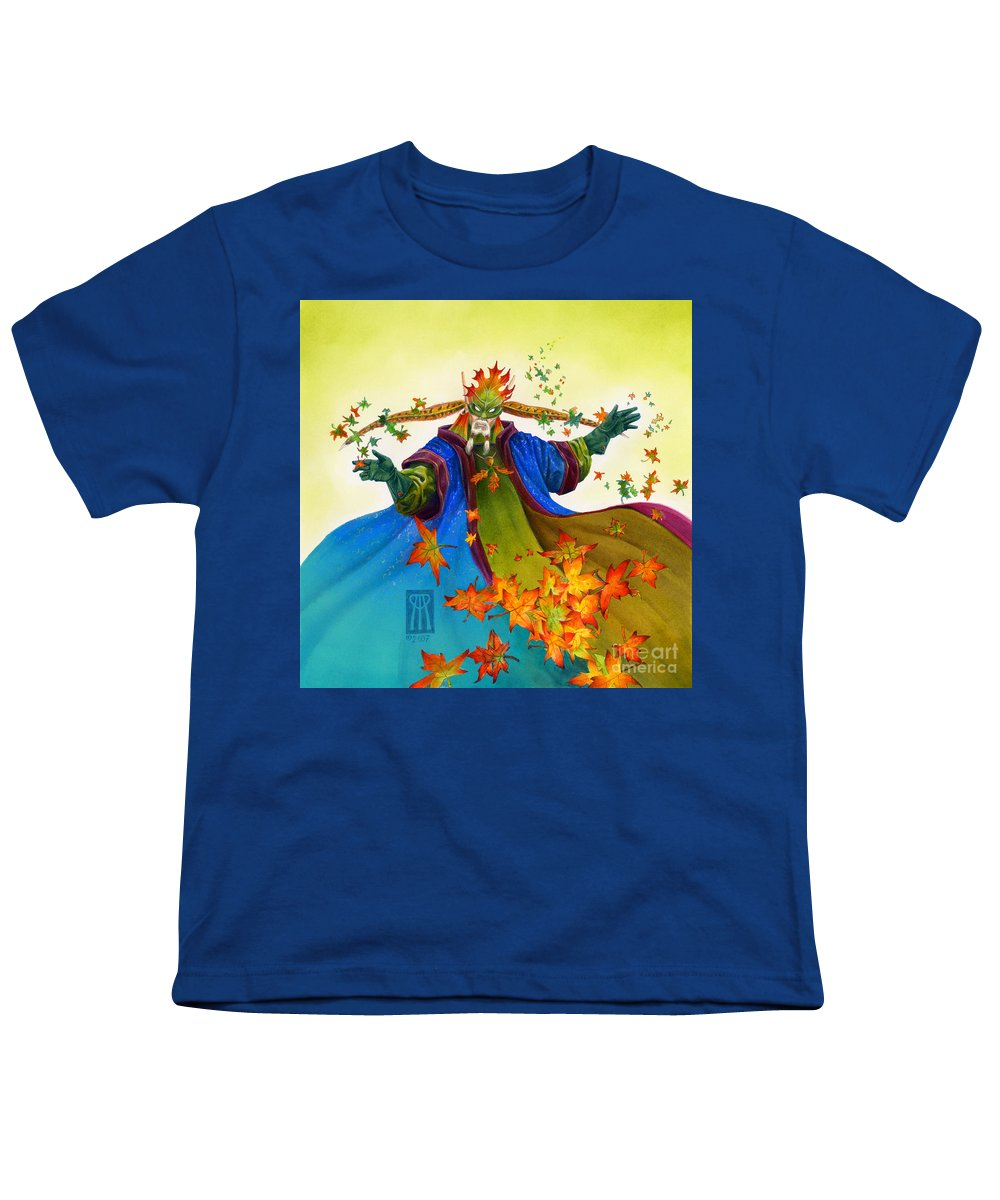 Elf Youth T-Shirt featuring the painting Elven Mage by Melissa A Benson