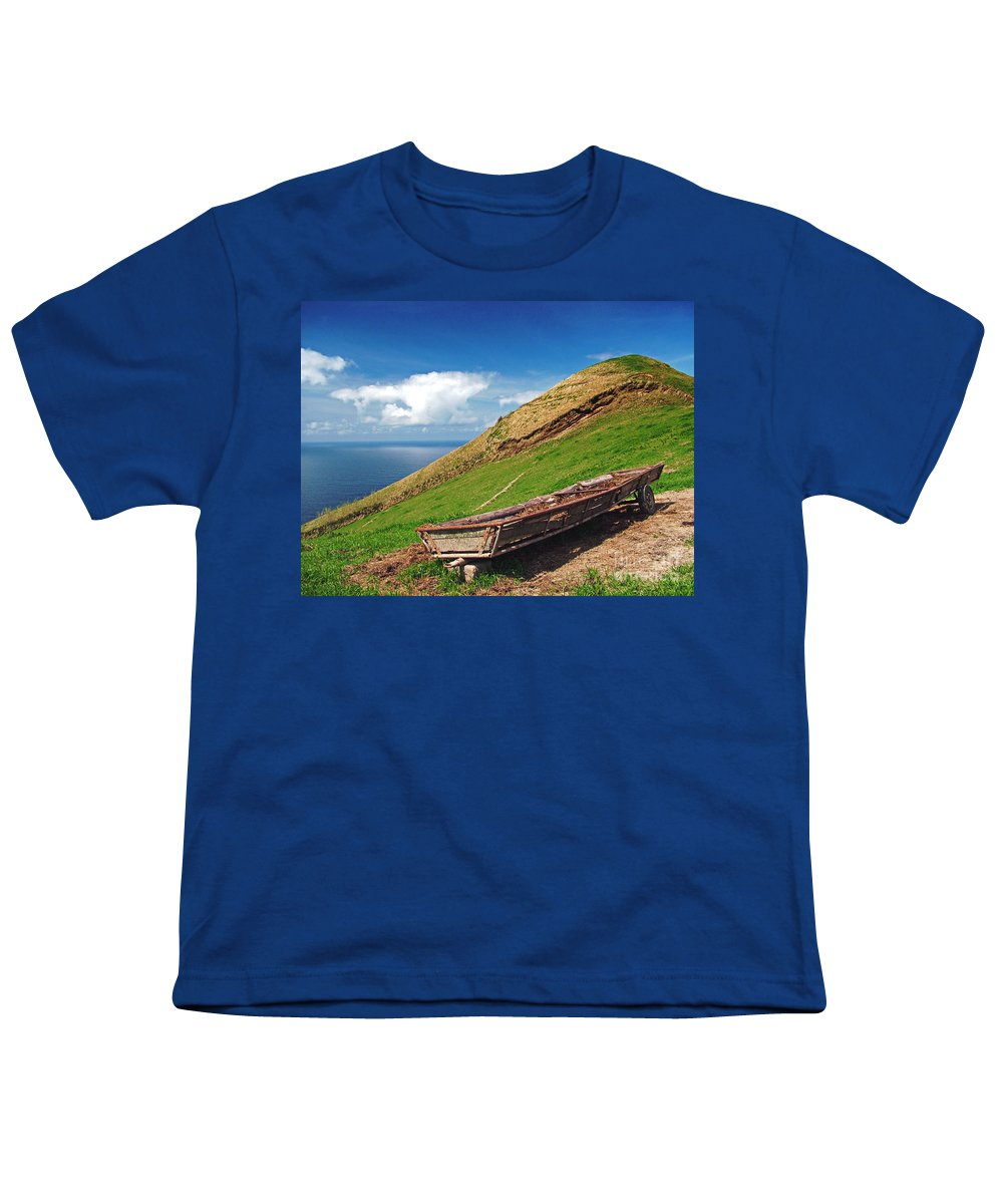 Europe Youth T-Shirt featuring the photograph Farming In Azores Islands by Gaspar Avila