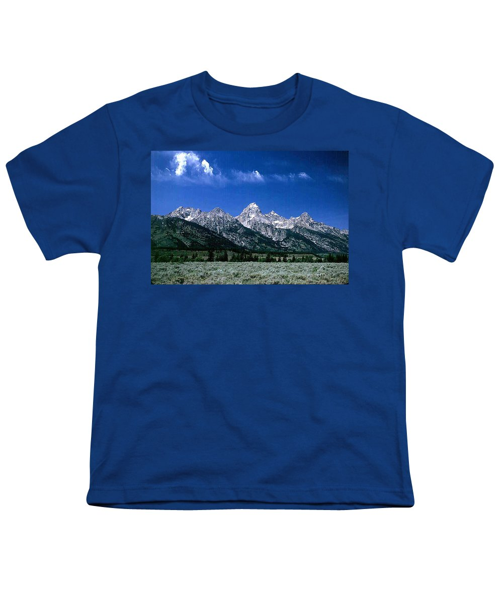 Mountains Youth T-Shirt featuring the photograph First View Of Tetons by Kathy McClure