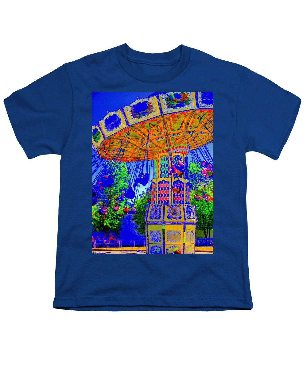 Flying High Youth T-Shirt featuring the photograph Flying High by Ed Smith